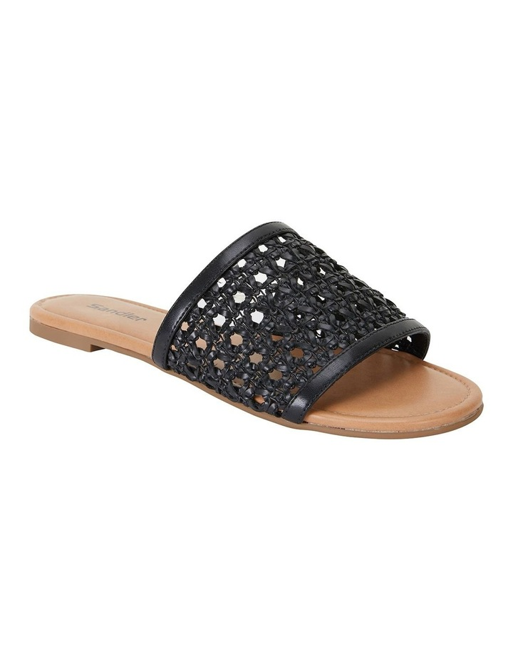 Ditto Black Weave Sandals image 2