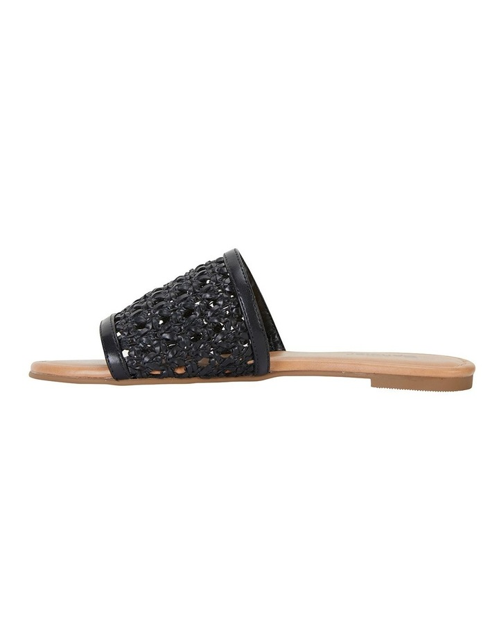 Ditto Black Weave Sandals image 3