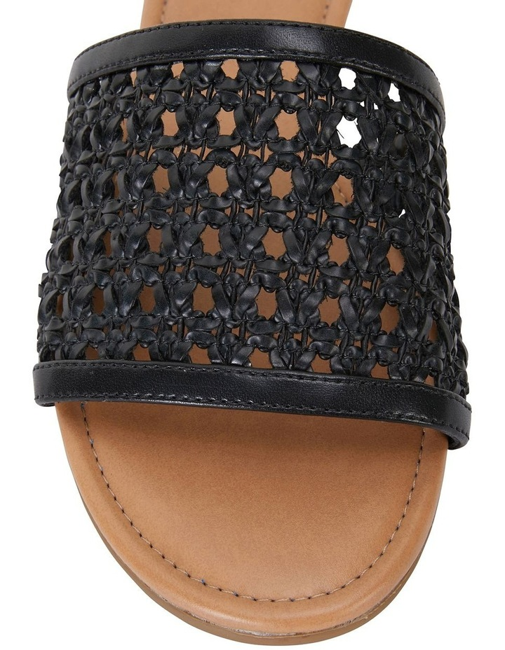 Ditto Black Weave Sandals image 6