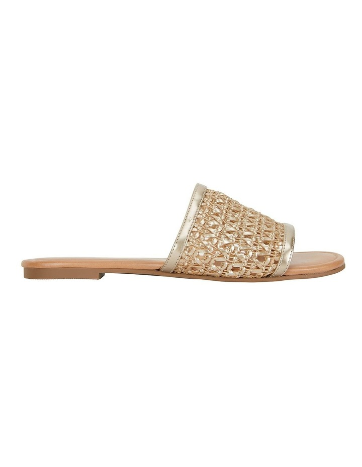 Ditto Soft Gold Weave Sandals image 1