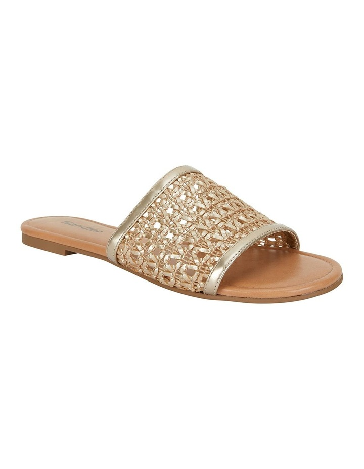 Ditto Soft Gold Weave Sandals image 2