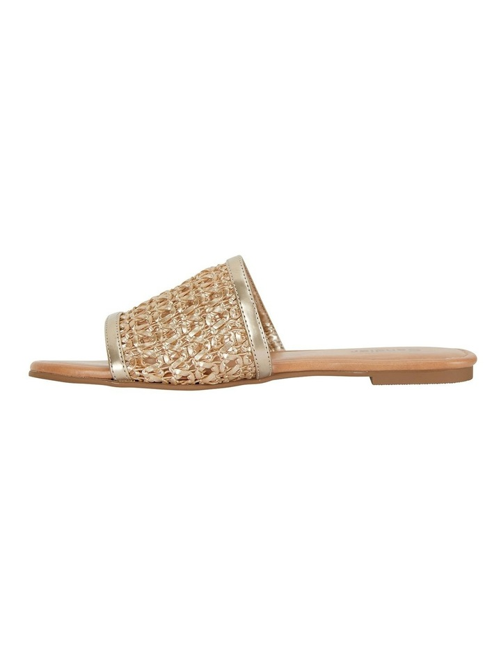 Ditto Soft Gold Weave Sandals image 3