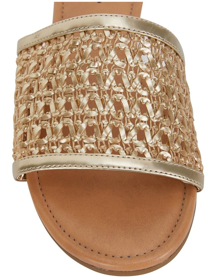 Ditto Soft Gold Weave Sandals image 6