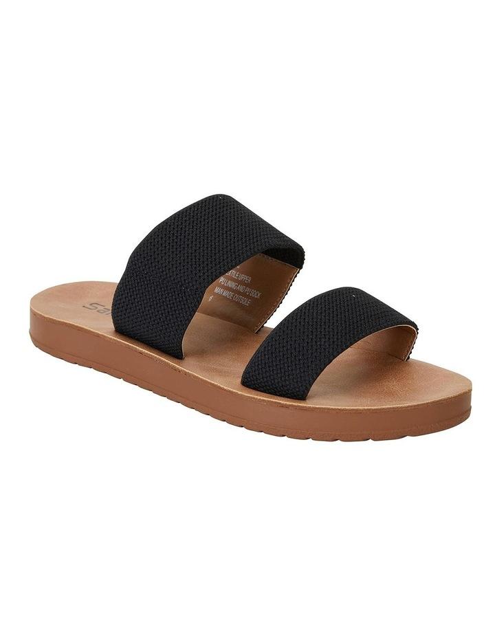 Havoc Black Elastic Sandals image 1