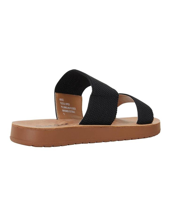 Havoc Black Elastic Sandals image 3