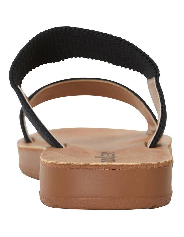 Havoc Black Elastic Sandals image 4