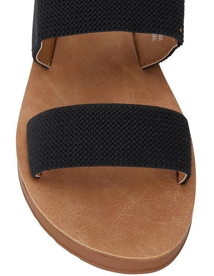 Havoc Black Elastic Sandals image 5