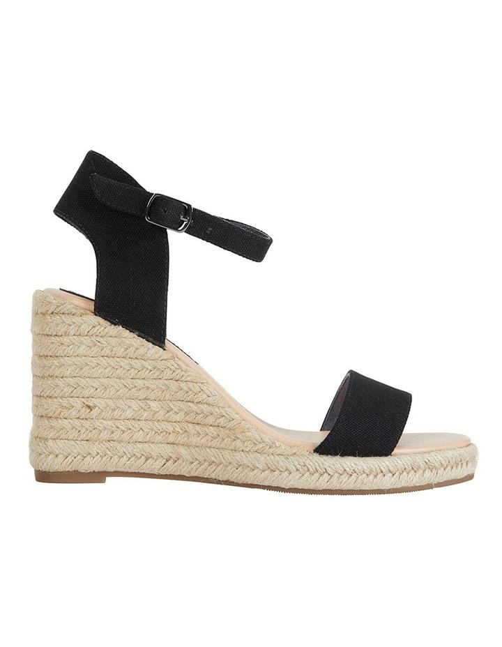 Audrey Black Linen Sandals image 1