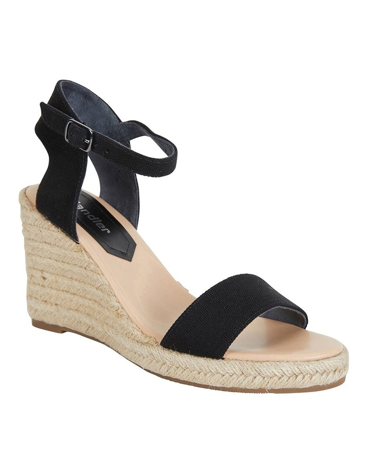 Audrey Black Linen Sandals image 2