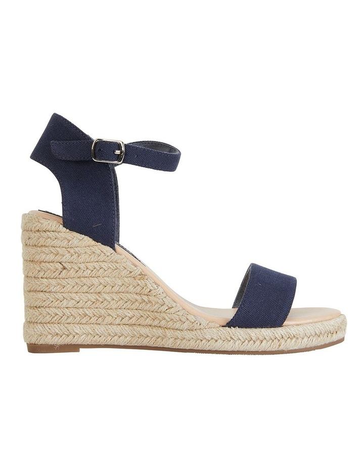 Audrey Navy Linen Sandals image 1