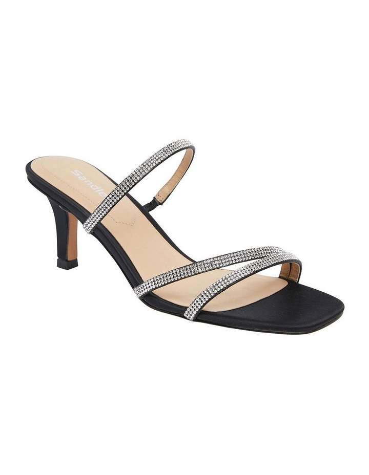 Marcy Black Fabric Sandals image 2