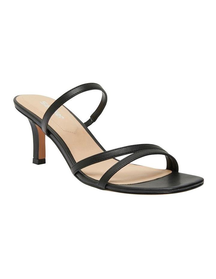 Marilyn Black Smooth Sandals image 2