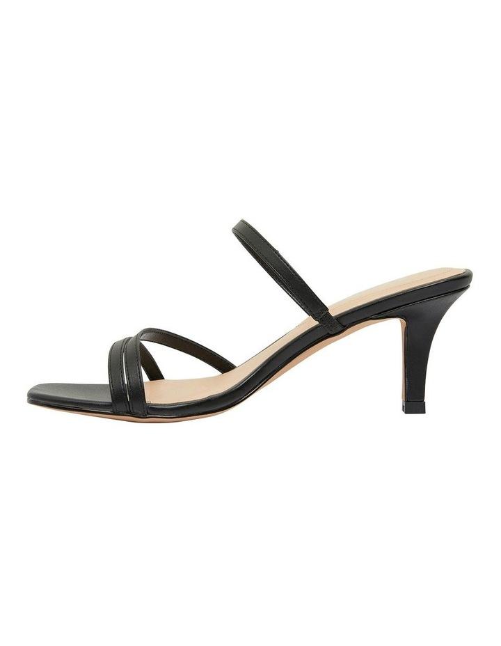 Marilyn Black Smooth Sandals image 3