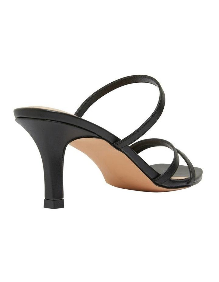 Marilyn Black Smooth Sandals image 4