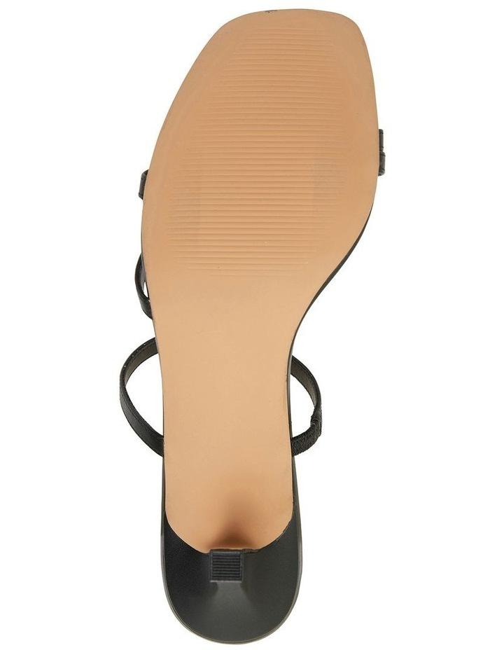Marilyn Black Smooth Sandals image 6