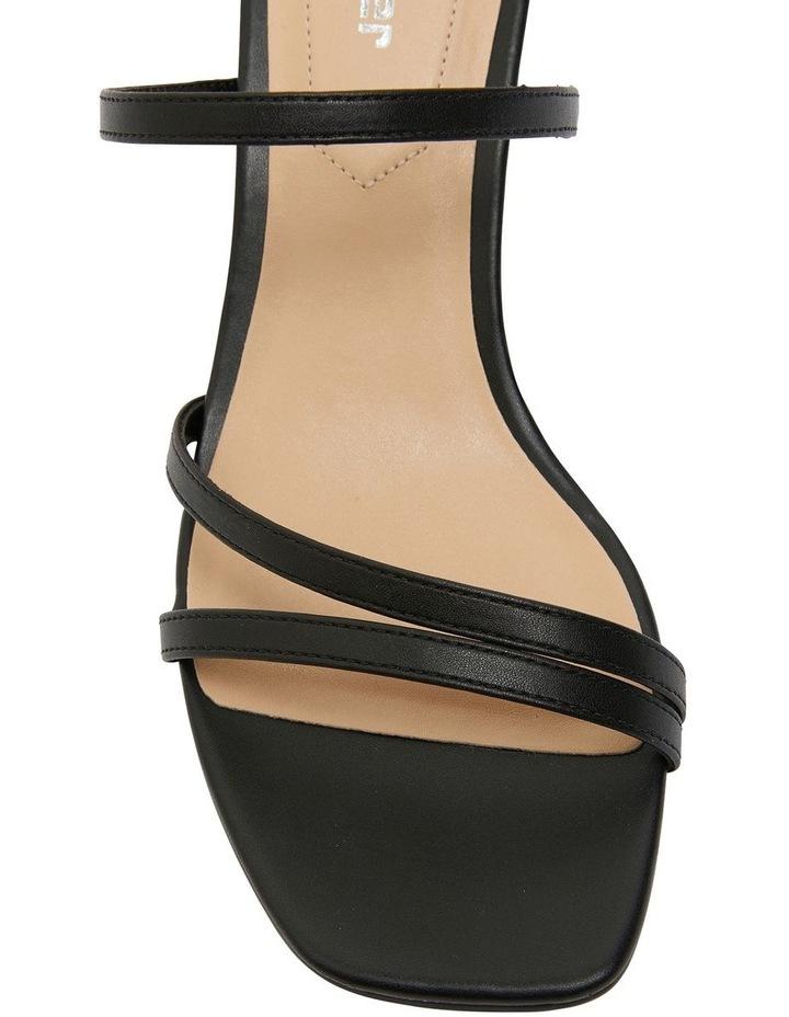 Marilyn Black Smooth Sandals image 7