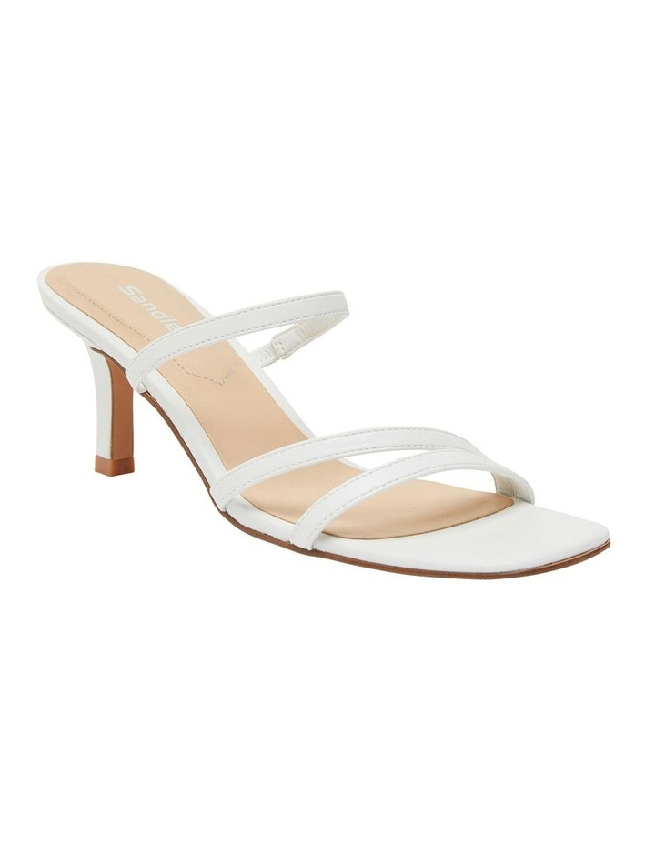 Marilyn White Smooth Sandals image 1