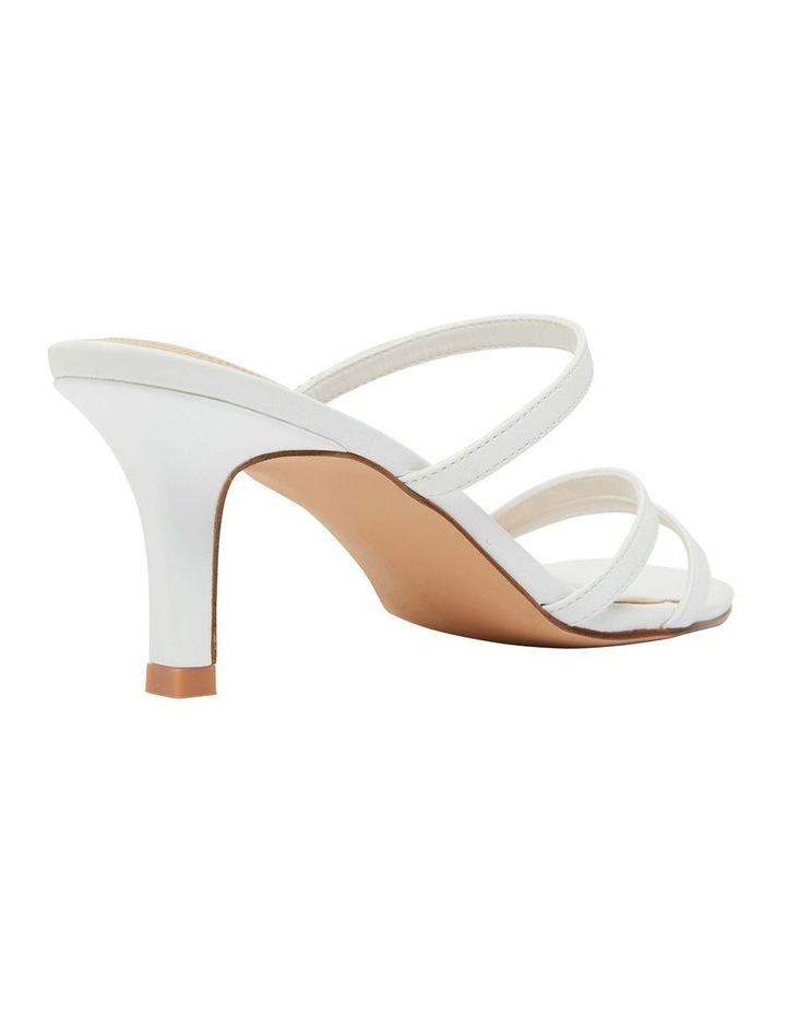 Marilyn White Smooth Sandals image 3