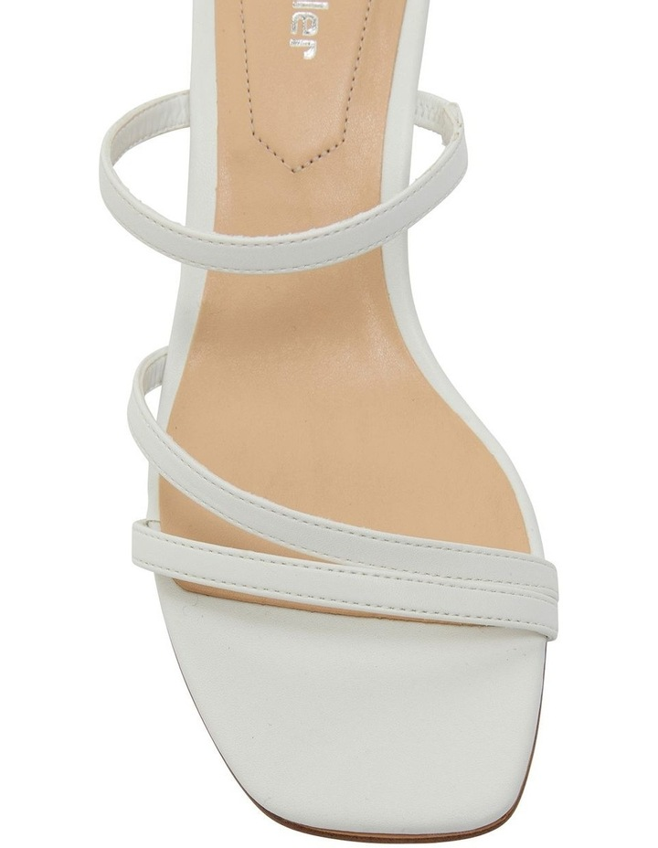 Marilyn White Smooth Sandals image 6
