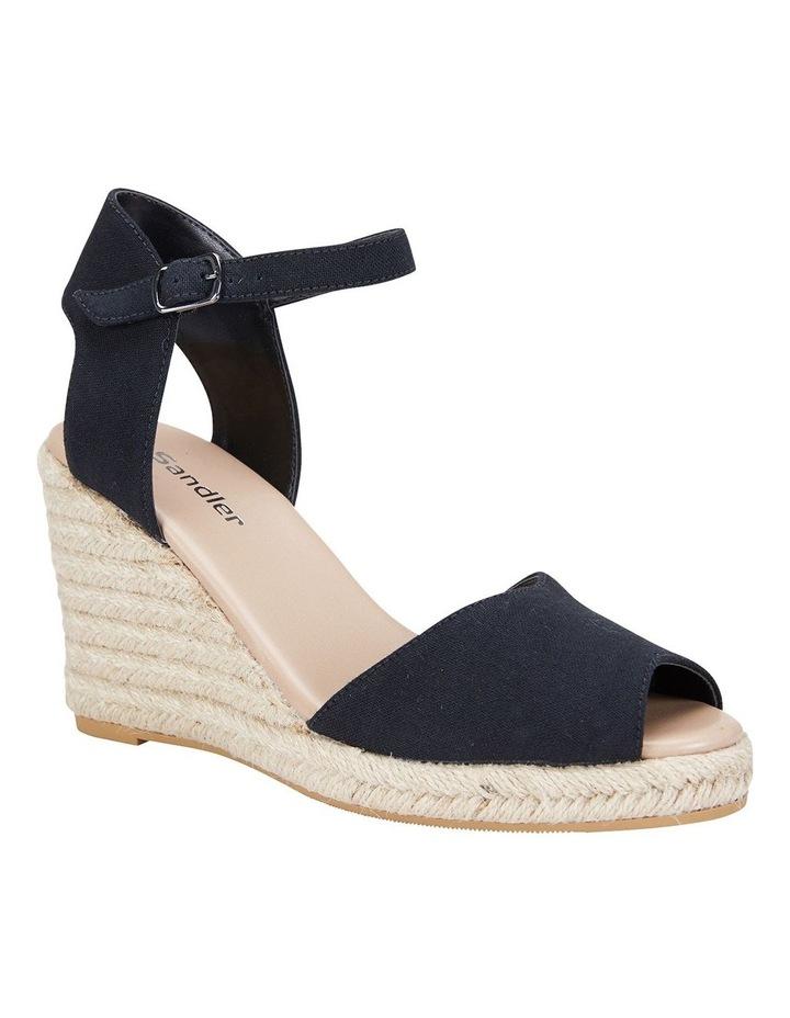 Aloha Black Linen Sandals image 2