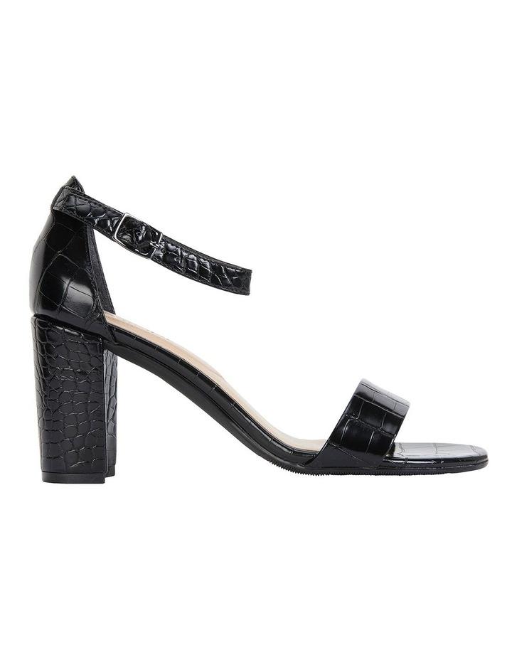 Juliet Black Croc Sandals image 1