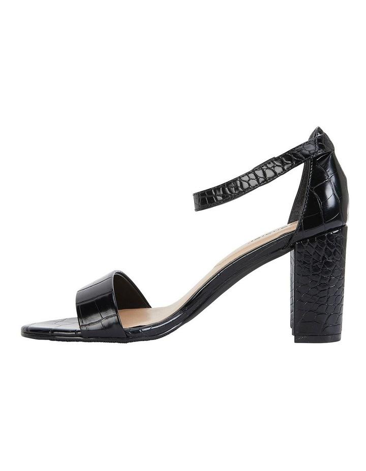 Juliet Black Croc Sandals image 3