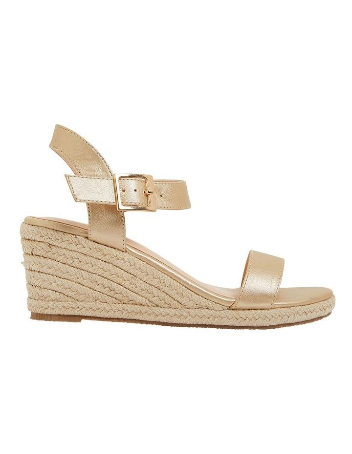 Annie Soft Gold Smooth Sandals image 1