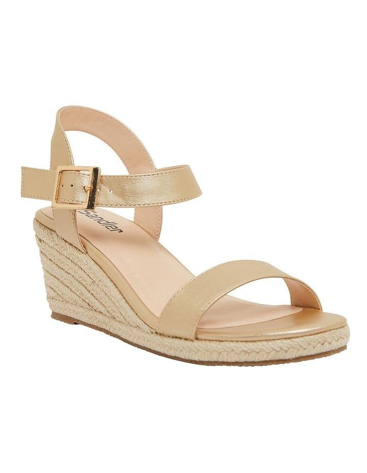 Annie Soft Gold Smooth Sandals image 2