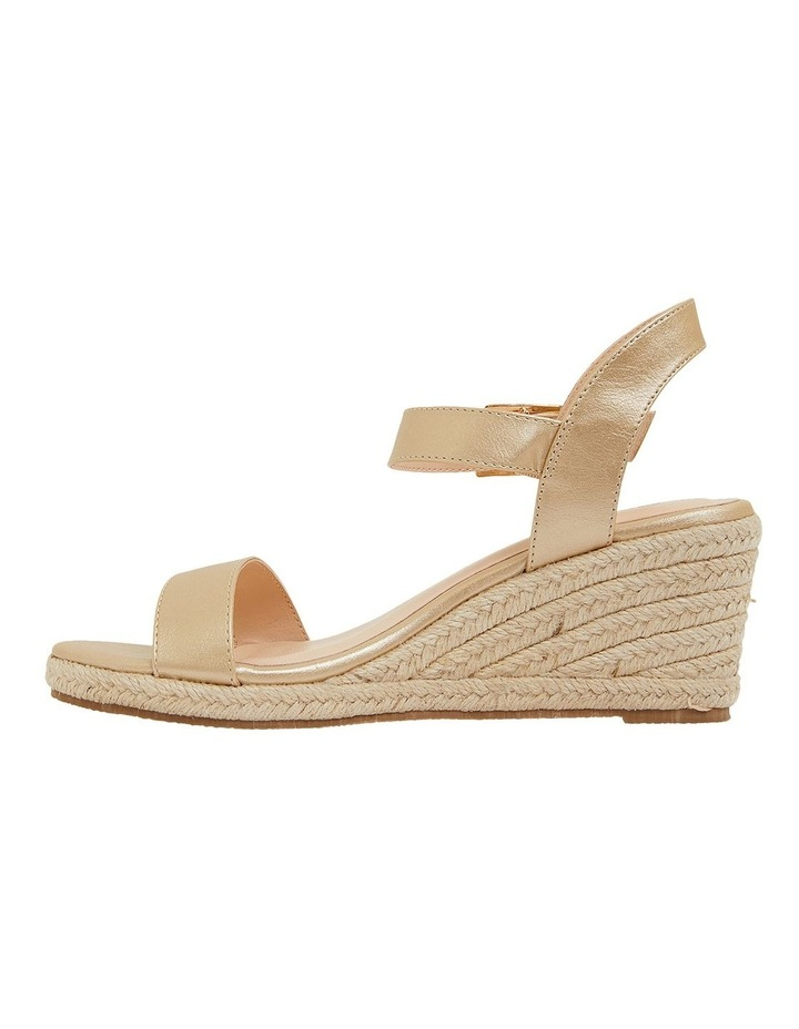Annie Soft Gold Smooth Sandals image 3
