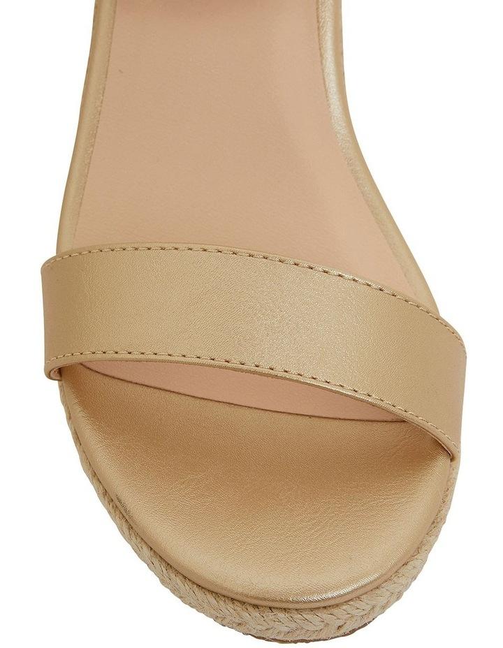 Annie Soft Gold Smooth Sandals image 7