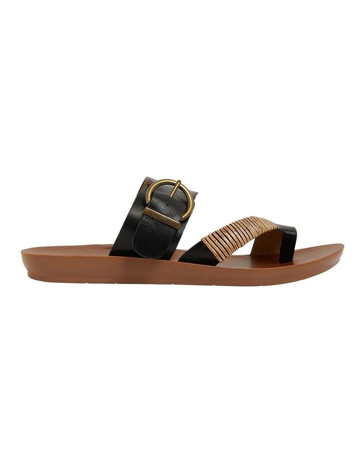 Geneva Black Smooth Sandals image 1