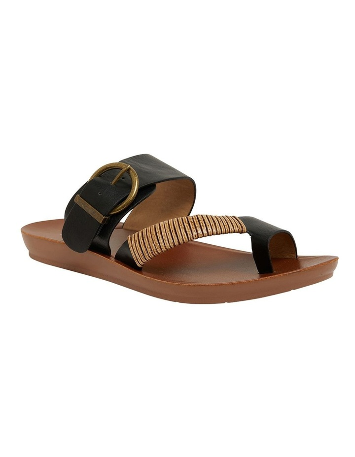 Geneva Black Smooth Sandals image 2