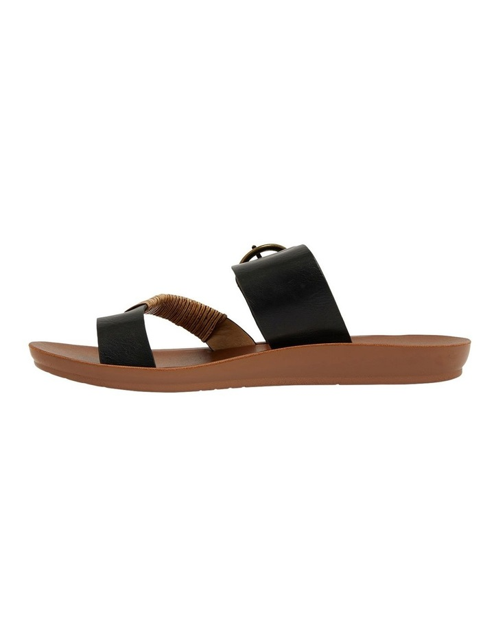 Geneva Black Smooth Sandals image 3