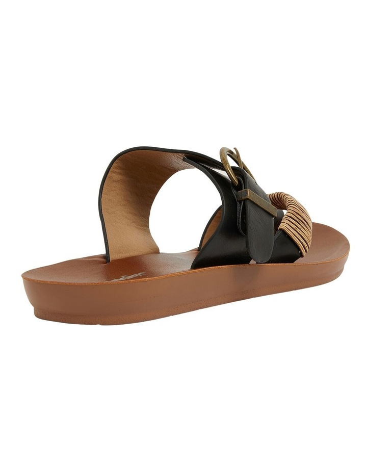 Geneva Black Smooth Sandals image 5