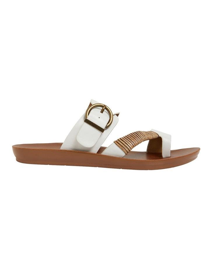 Geneva White Smooth Sandals image 1