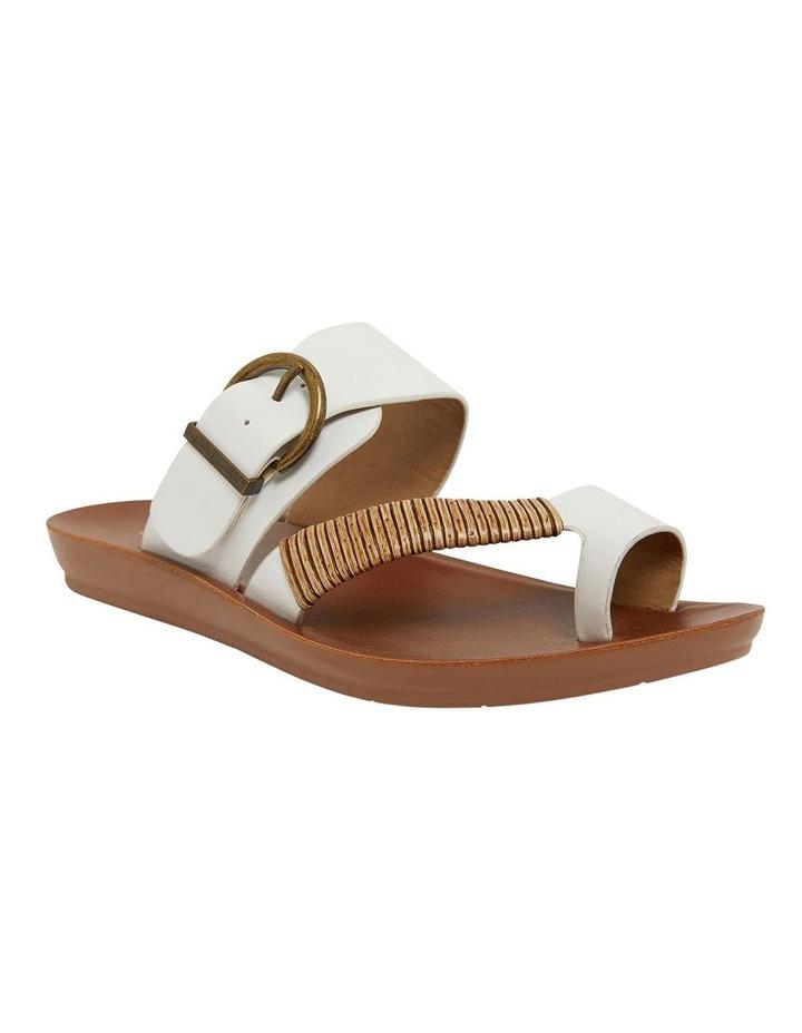 Geneva White Smooth Sandals image 2