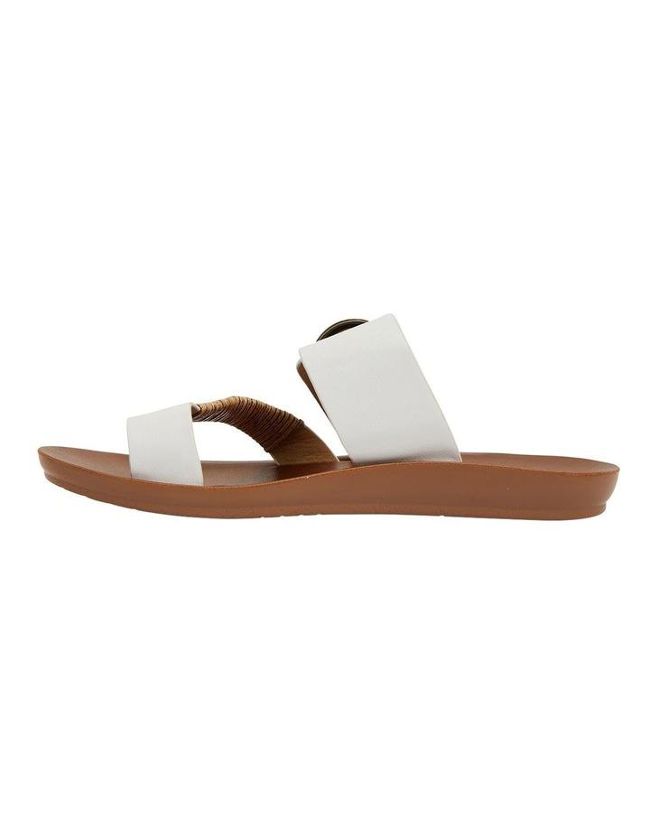 Geneva White Smooth Sandals image 3