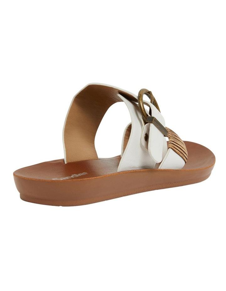Geneva White Smooth Sandals image 4