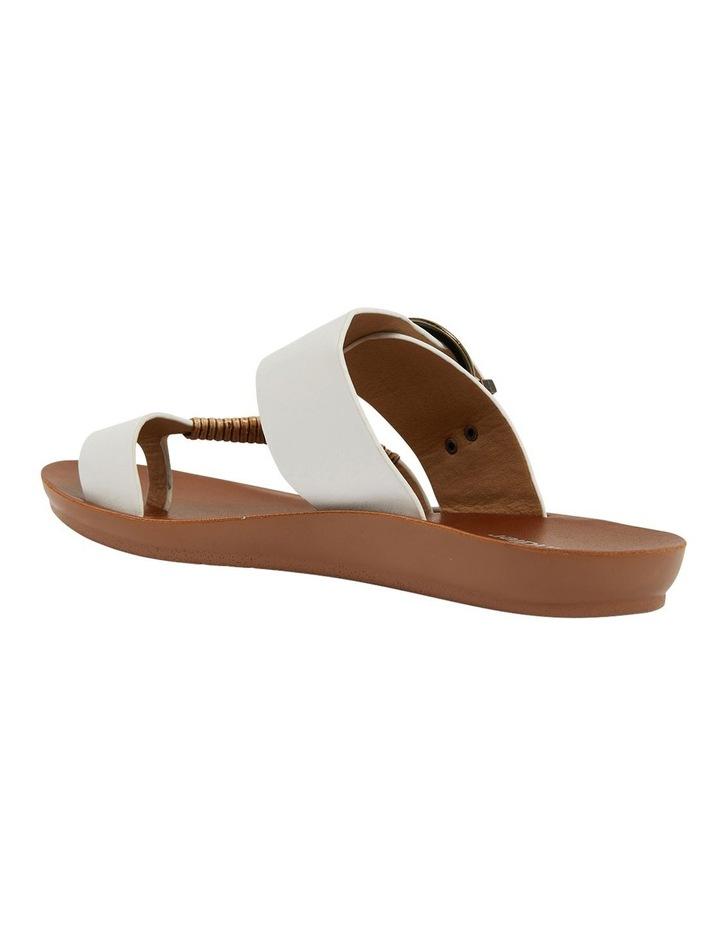 Geneva White Smooth Sandals image 5