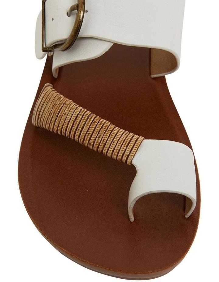 Geneva White Smooth Sandals image 6