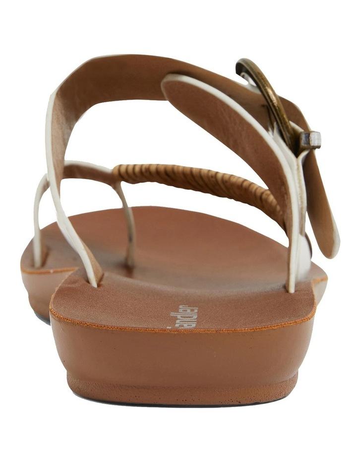 Geneva White Smooth Sandals image 7