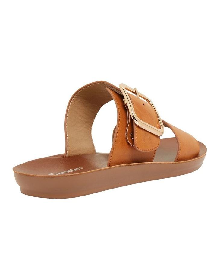 Garnet Cognac Smooth Sandals image 4