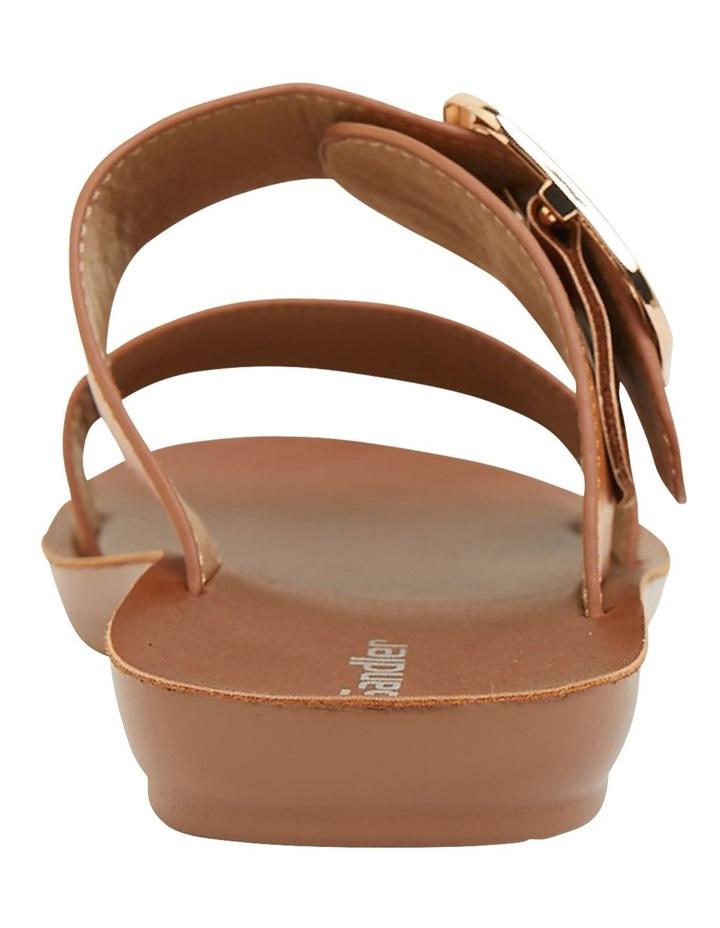 Garnet Cognac Smooth Sandals image 5