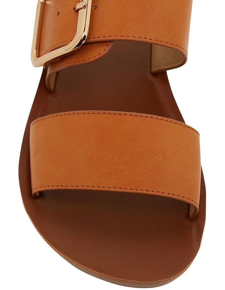 Garnet Cognac Smooth Sandals image 7