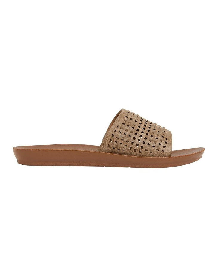 Grid Taupe Smooth Sandals image 1