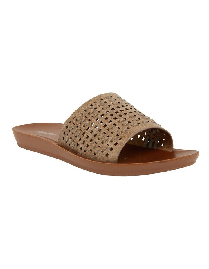 Grid Taupe Smooth Sandals image 2