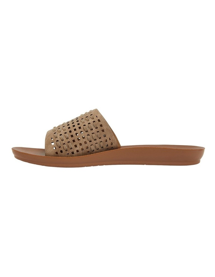 Grid Taupe Smooth Sandals image 3