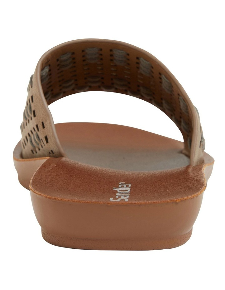 Grid Taupe Smooth Sandals image 4