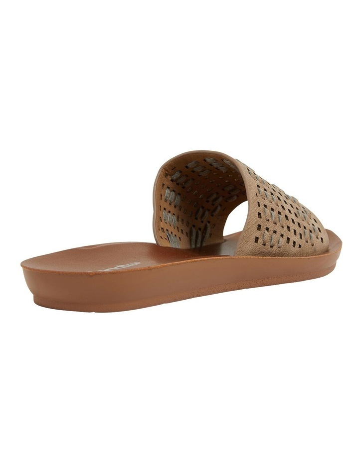 Grid Taupe Smooth Sandals image 5