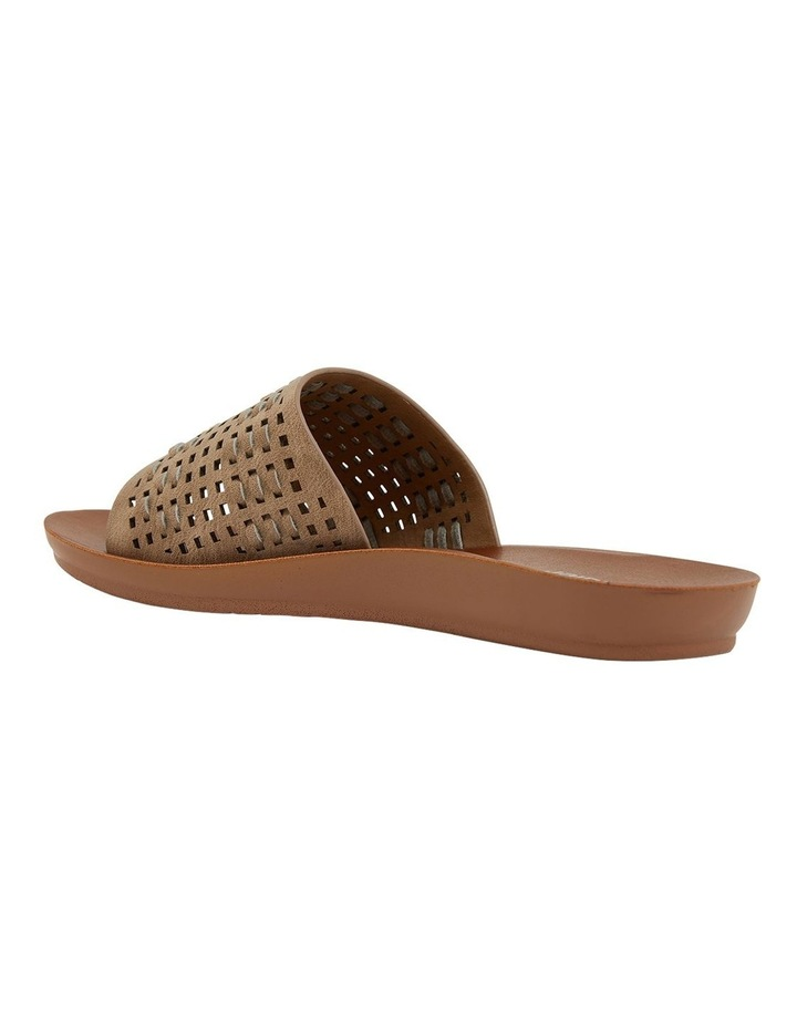 Grid Taupe Smooth Sandals image 6